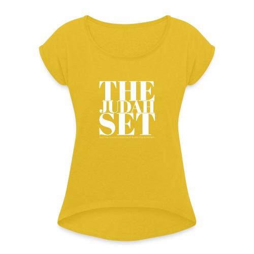 THEJUDAHSET LOGO (Blocked) - Women's Roll Cuff T-Shirt