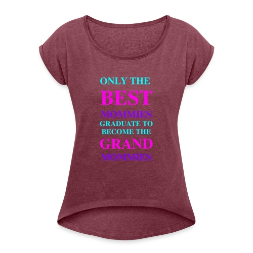 Best Seller for Mothers Day - Women's Roll Cuff T-Shirt