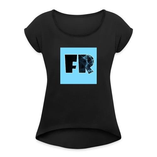 Fanthedog Robloxian - Women's Roll Cuff T-Shirt