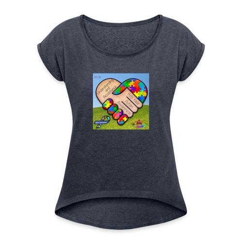 autpro1 - Women's Roll Cuff T-Shirt
