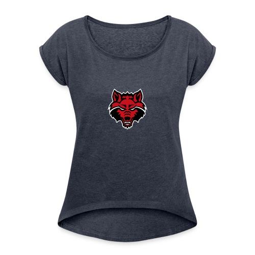 Red Wolf - Women's Roll Cuff T-Shirt