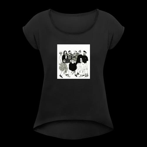 The DBD Show EP Cover Art - Women's Roll Cuff T-Shirt
