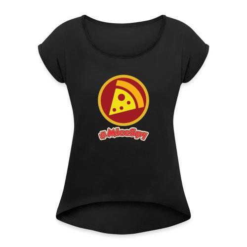 Pizza Port Explorer Badge - Women's Roll Cuff T-Shirt
