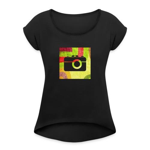 Stylist camera design - Women's Roll Cuff T-Shirt