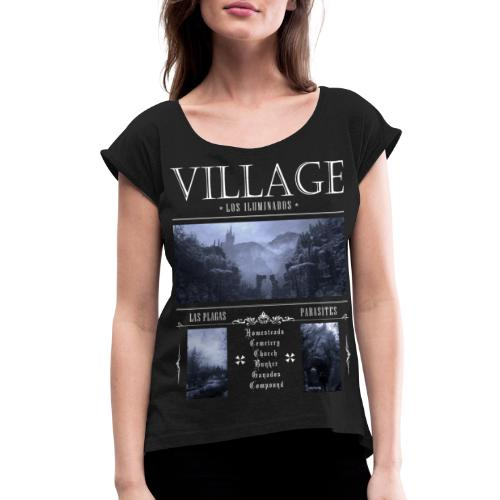Los Iluminados Village 2 - Women's Roll Cuff T-Shirt