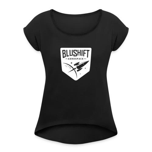 BluShift Logo - Women's Roll Cuff T-Shirt