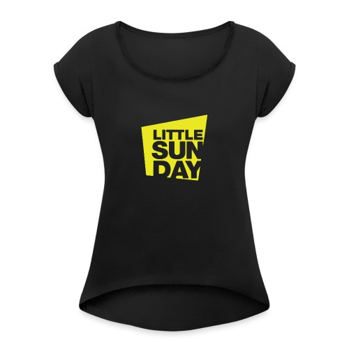 littleSUNDAY Official Logo - Women's Roll Cuff T-Shirt