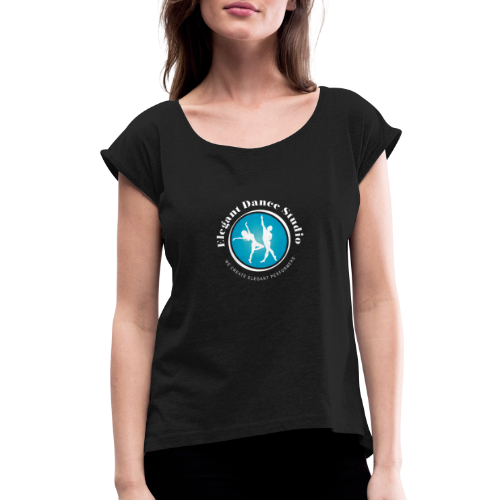 EDS Logo 2 - Women's Roll Cuff T-Shirt