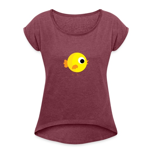 HENNYTHEPENNY1 01 - Women's Roll Cuff T-Shirt