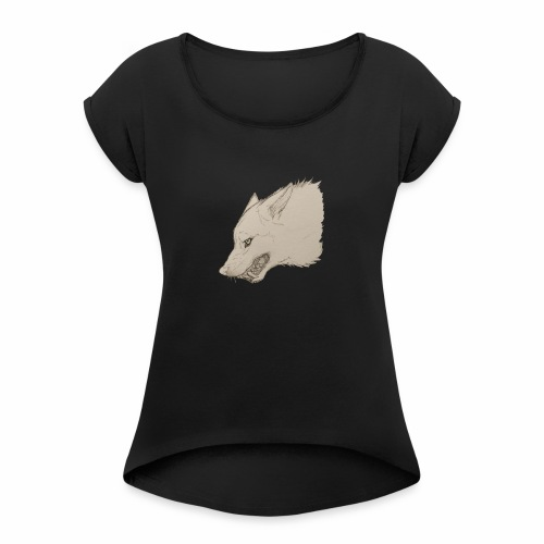 Lone Wolf - Women's Roll Cuff T-Shirt