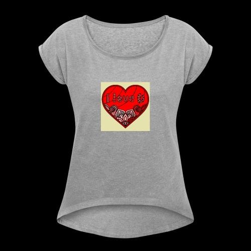 DE1E64A8 C967 4E5E 8036 9769DB23ADDC - Women's Roll Cuff T-Shirt