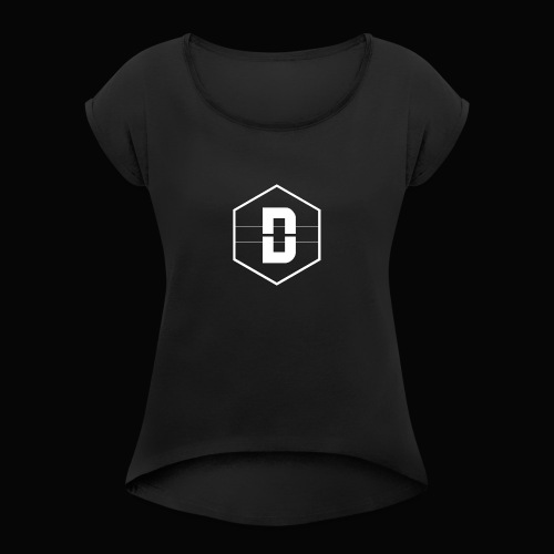 DALEY LOGO WHITE - Women's Roll Cuff T-Shirt