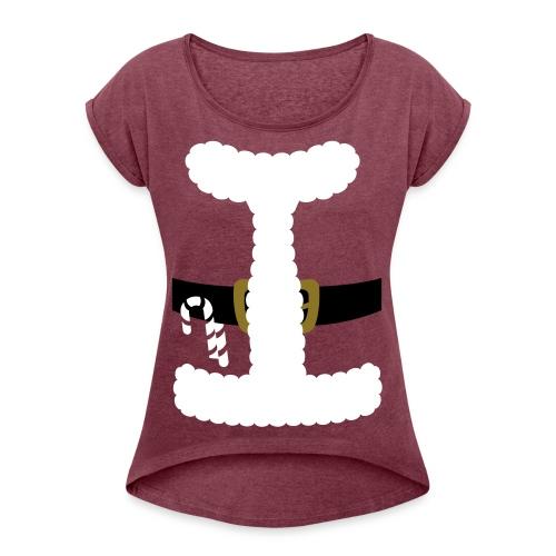 SANTA CLAUS SUIT - Men's Polo Shirt - Women's Roll Cuff T-Shirt