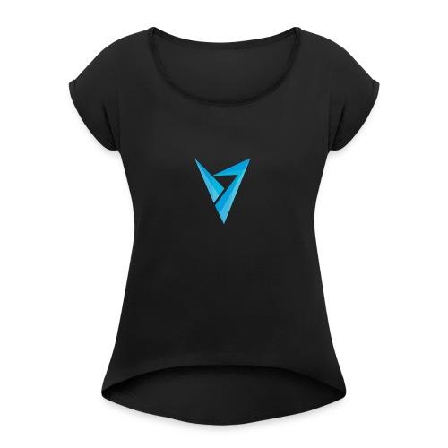 v logo - Women's Roll Cuff T-Shirt