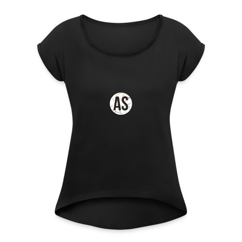 Pastille AvecSimon (AS) -Femme- - Women's Roll Cuff T-Shirt
