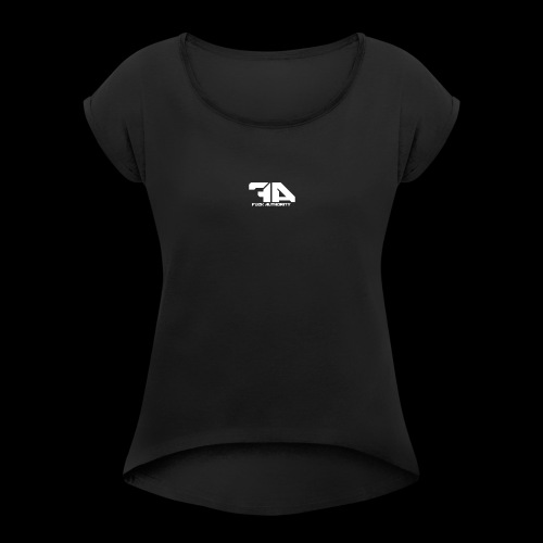 Fuck Authority. - Women's Roll Cuff T-Shirt