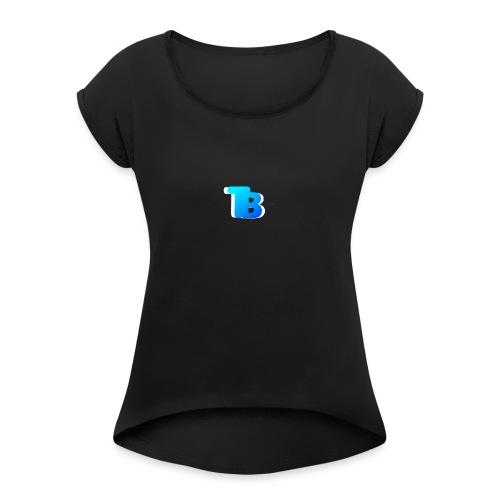 Trublu Overlapping letter Design - Women's Roll Cuff T-Shirt