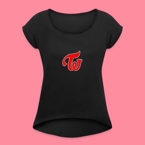 TWICE Logo - Women's Roll Cuff T-Shirt