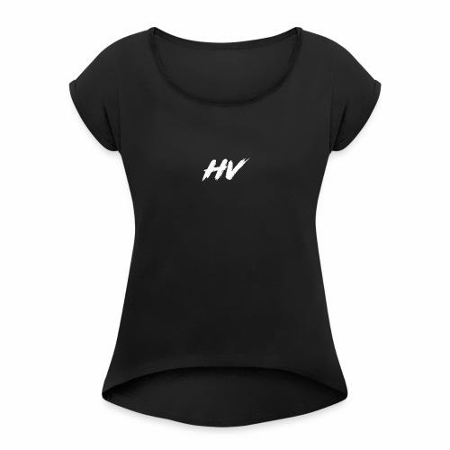 HarrisonVlogs™ Logo - Women's Roll Cuff T-Shirt