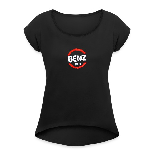 Benz Apparel - Women's Roll Cuff T-Shirt