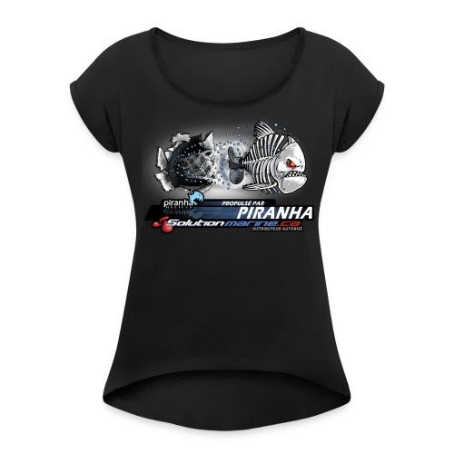 propulse_par_long_SoluMar - Women's Roll Cuff T-Shirt