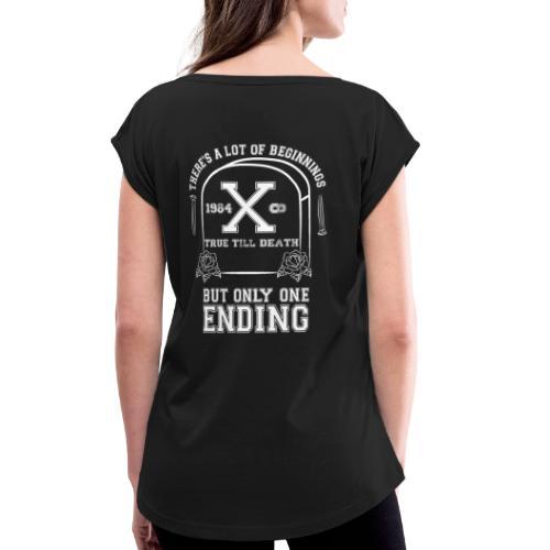 True Till Death Montreal SXE - Women's Roll Cuff T-Shirt