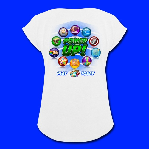 Vintage Cannonball Bingo Power-Up Tee - Women's Roll Cuff T-Shirt