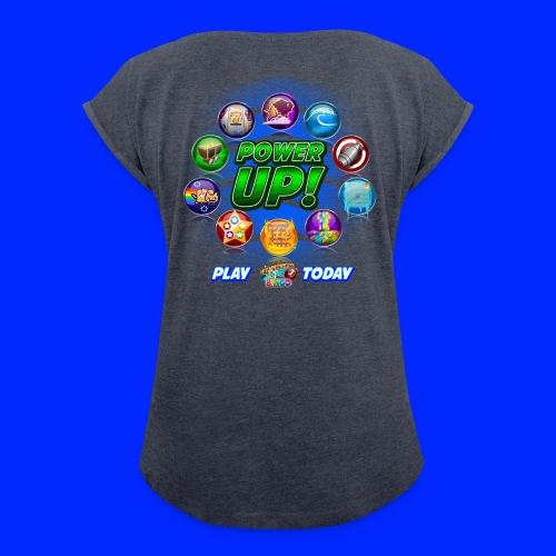 Vintage Cannonball Bingo Power-Up Tee - Women's Roll Cuff T-Shirt