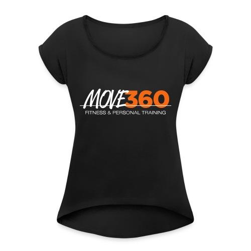 Move360 Logo LightGrey - Women's Roll Cuff T-Shirt