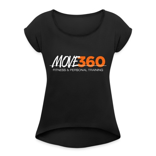 Move360 Logo LightGrey - Women's Roll Cuff T-Shirt