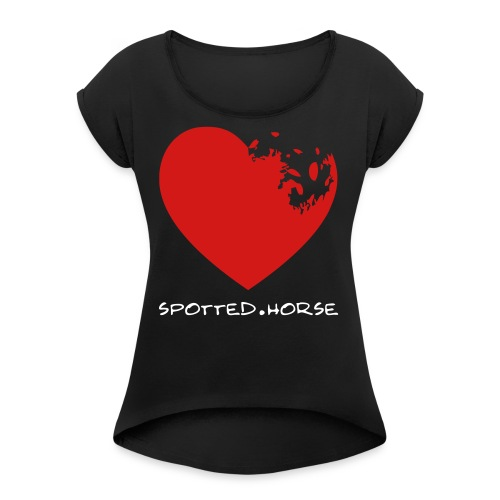 Appaloosa Heart - Women's Roll Cuff T-Shirt