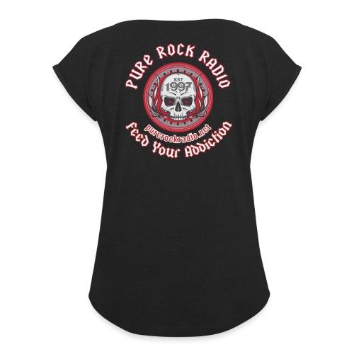 PRR Molenoise Skull (Front) + Circle Logo (Back) - Women's Roll Cuff T-Shirt