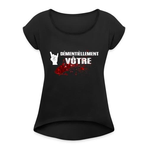 2017logo4000px - Women's Roll Cuff T-Shirt