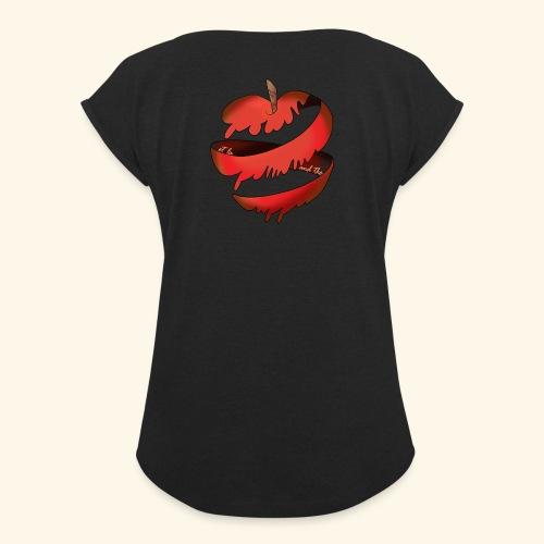 Logo designed by/conceptualisé par Francesca Pang - Women's Roll Cuff T-Shirt