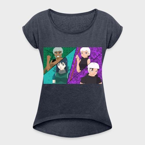 moha_team - Women's Roll Cuff T-Shirt