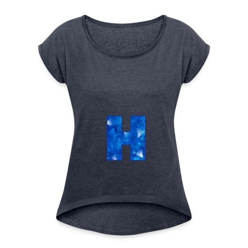 XxHaunter Logo - Women's Roll Cuff T-Shirt