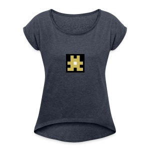 YELLOW hashtag - Women's Roll Cuff T-Shirt
