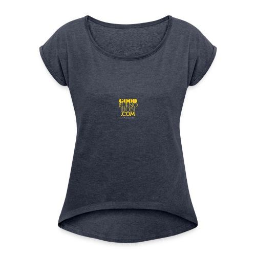 Logo_gif - Women's Roll Cuff T-Shirt