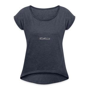vn_blk - Women's Roll Cuff T-Shirt