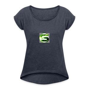 Spreadshirt_tryck_1_v2 - Women's Roll Cuff T-Shirt
