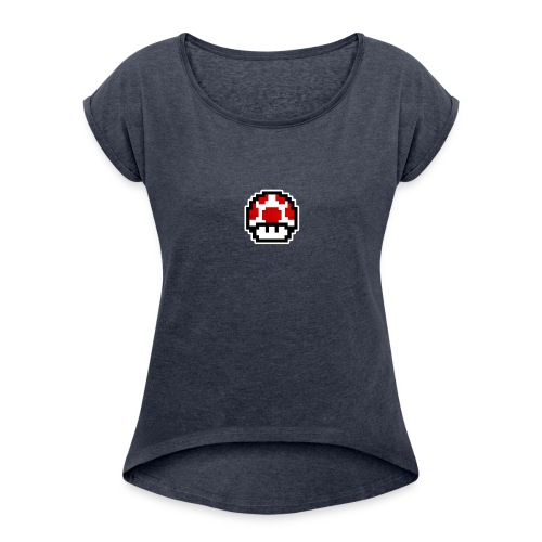 NerdyPlayz YouTube Gear! - Women's Roll Cuff T-Shirt