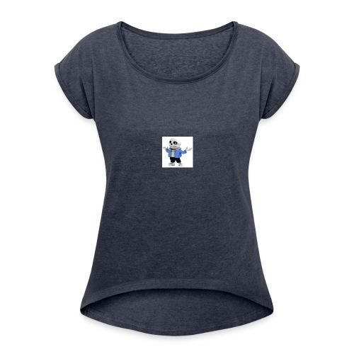 undertale-sans i hope you like it - Women's Roll Cuff T-Shirt