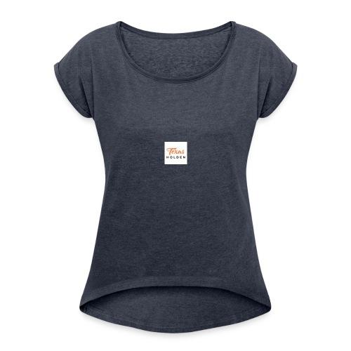 Texas holden branding and designs - Women's Roll Cuff T-Shirt