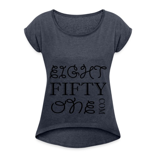 8:51 Square - Women's Roll Cuff T-Shirt