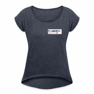 Fashion and Beauty - Women's Roll Cuff T-Shirt
