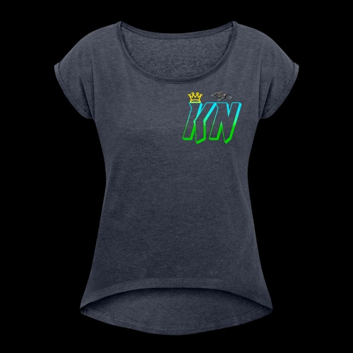 2018 keag and Nate Logo - Women's Roll Cuff T-Shirt
