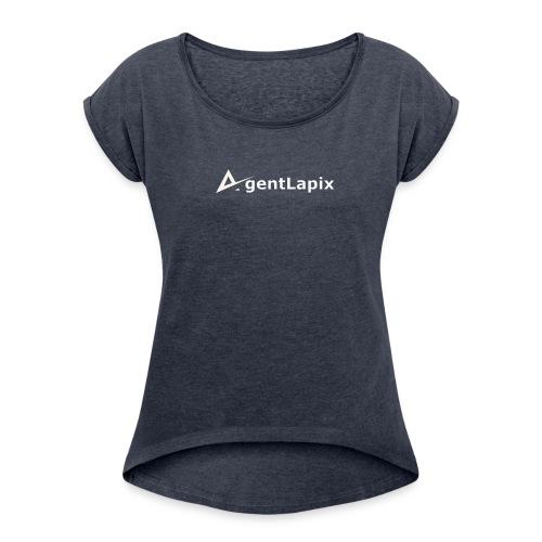 Agent Lapix Logo - Women's Roll Cuff T-Shirt
