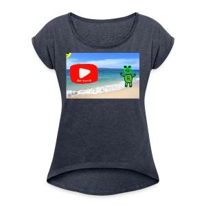 fat turtle merch - Women's Roll Cuff T-Shirt