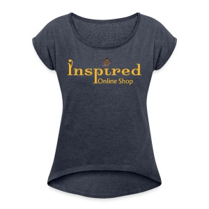 Inspired Logo - Women's Roll Cuff T-Shirt