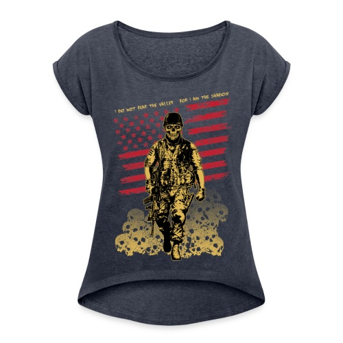 Skull Soldier - Women's Roll Cuff T-Shirt